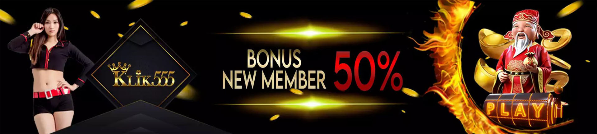 KLIK555 Bonus New Member 50%